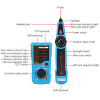 Network Ethernet LAN Cable Tester RJ11 RJ45 Wire Tracker Tracer Test Tool Kit