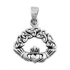 Celtic Claddagh .925 Sterling Silver Pendant