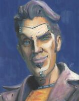 Handsome Jack Borderlands Villian Video Game Wall Painting Art Print 11x14