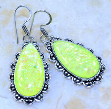 "FANCY DICHROIC GLASS EARRINGS 2 1/4""; Q58840"