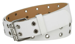 3039 Solid Rich Fashion Color Double Prong Genuine Leather Casual Jean Belt