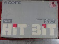 ORDINATEUR DOMESTIQUE HB-75F SONY MSX HB 75F COMPUTER MSX VINTAGE HB 75F RARE