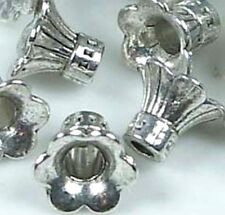 20 Pewter Petal Bell Flowers Caps Beads ~ Lead-Free ~