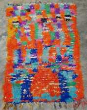 Vintage Moroccan boucherouite rug 153 x 116 cm