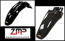 NEW HONDA XR 80 01 - 03 BLACK PLASTIC FRONT AND REAR MOTORCYCLE FENDER