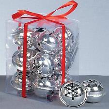 Premier 12 paquete copo de nieve 40mm cascabel adornos - rojo dorado plateado plata