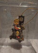 M I Hummel Ornament RIDING LESSON - Boy riding rocking horse - new in box