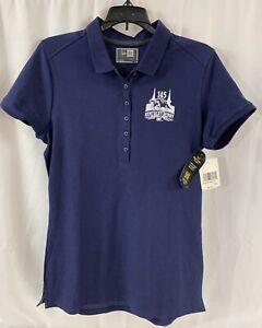 Kentucky Derby Women's Polo Shirt Small Navy Blue 145 Knit Churchill Downs NWT