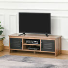 HOMCOM TV Stand Cabinet Unit Media Entertainment Center w/ Drawers Wire Hole