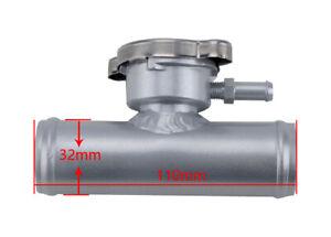 "32mm 1-1/4"" Hose Aluminum In-Line Radiator Hose Filler Neck With Cap Silver"