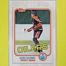 JARI KURRI 1981-82  ROOKIE   TOPPS #18    Edmonton Oilers   Lot C