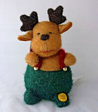Gemmy Dancing Tinsel Plush Christmas Reindeer  with tags battery operated