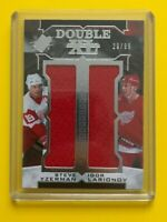 Yzerman/Larionov - 2017-18 Upper Deck SPX Hockey Double XL material Red Wings