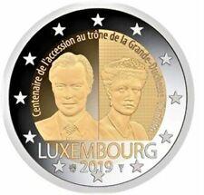 LUXEMBURGO 2 EUROS 2019 - CONM. 100 ANIV. LLEGADA AL TRONO- S/C -