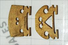 2x vintage VIOLIN BRIDGES instrument parts wooden DRESDEN German Germany repair