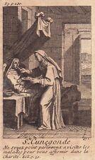Portrait XVIIIe Sainte Cunégonde de Luxembourg Kunigunde von Luxemburg 1722