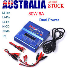 iMax B6AC 80W RC Li-ion Lipo Battery Balance Charger Dual Power Built In Adapter