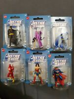 Lot Of 6 DC Comics Mini Figures Batman flas Joker Superman Mattel Justice League