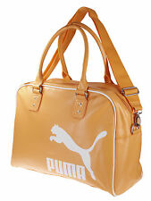 Puma Heritage Grip Bag Purse Handbag Messenger Bag, Orange