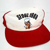 Vintage 1988 Seoul Korea Olympics Snapback Hat Made In Korea Hodori Cap Rare
