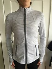 Lululemon Size 8 Define Jacket Gray White Wee Stripe WSNB Zip Up LS NWT Forme
