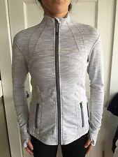 Lululemon Size 6 Define Jacket GRAY WHITE WEE STRIPE WSNB Zip Up LS NWT Forme