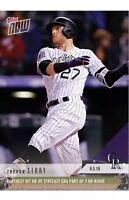 2018 Topps NOW MLB 691 COLORADO ROCKIES Trevor Story PR 412