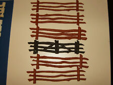 Vintage Marx Rustic Fence Lot From Western Playset.