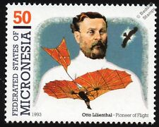 Otto LILIENTHAL GLIDER (The Glider King) Aircraft Flight Stamp
