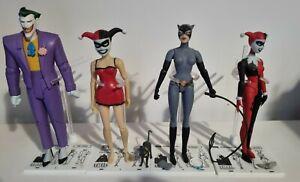 DC Batman Mad Love The Joker & Harley Quinn Action Figures + Catwoman x 4