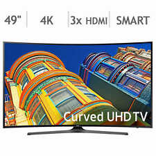 "Samsung 49"" Black LED UHD 4K Curved Smart Ultra HD LED LCD TV UN49KU6500  NEW"