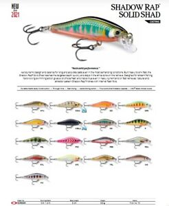 Rapala Shadow Rap Solid Shad // SDRSS05 // 5cm 5,5g Lures (Choice Of Colors)