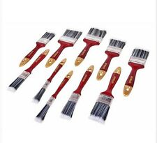 "10PC PAINT BRUSH SET GOOD QUALITY 2""-1.5""-0.5"" INCH DECORATING GLOSS WOOD HANDLE"