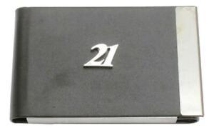 21st Birthday Business Card Holder BCH Black PU & Metal Gift 462