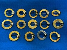 Lot of 14 Vintage Us Army 2nd Infantry Division Metal Homefront Pins