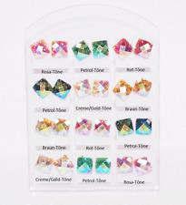 1 Paar Brillo Cuadrado Pendientes Mica Brillante Color A Elegir 3D NUEVO
