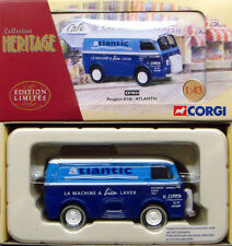 CORGI EX70624 FRENCH HERITAGE 1/43 Blue Peugeot D3A Van Atlantic