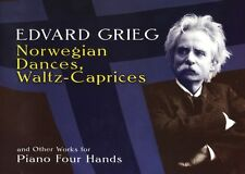 Edvard Grieg Norwegian Dances Waltz-Caprices Piano DUETS Music Book