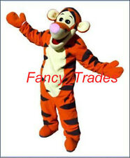 Jump Tiger Tigger Mascot Costume Party Dress Suit Plush