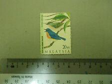 Malaysia 20 sen Stamp Burung Sambar Biru Kecil / Muscicapella Hodgsoni Art