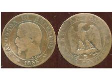 5 centimes NAPOLEON III 1855 B  ancre  ( 1 )
