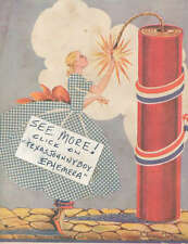 1937 advertisement Fourth Of July lady Fireworks explosives Dynamite