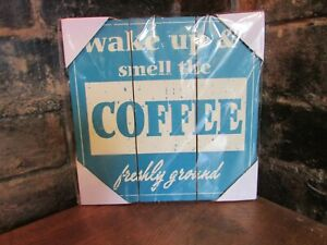 Wake Up & Smell The Coffee Wall Art 25cm x 25cm