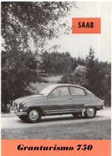Saab 96 Granturismo 750 2-Stroke 1961 German Market Foldout Sales Brochure Super