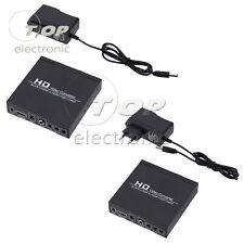 Scart + Hdmi Para Hdmi Conversor De Vídeo Hd Caixa 720P 1080P 3.5mm saída de áudio coaxial