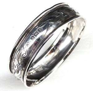 SILVER NAPKIN RING 1922 HALLMARKED STERLING BY FRANCIS WEBB
