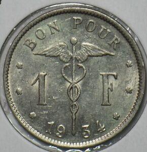 Belgium 1934 Franc 195925 combine shipping