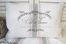Kissenbezug MAJE ROSA Weiß 40x60 LillaBelle Vintag Landhaus Shabby Chic