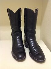 WOMAN'S ~ JUSTIN ROPERS / BOOTS ~ BLACK ~ SIZE 5 B ~ USA