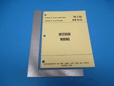 Dept of the Army & the Air Force August 1968 Tech Manual Interior Wiring M732
